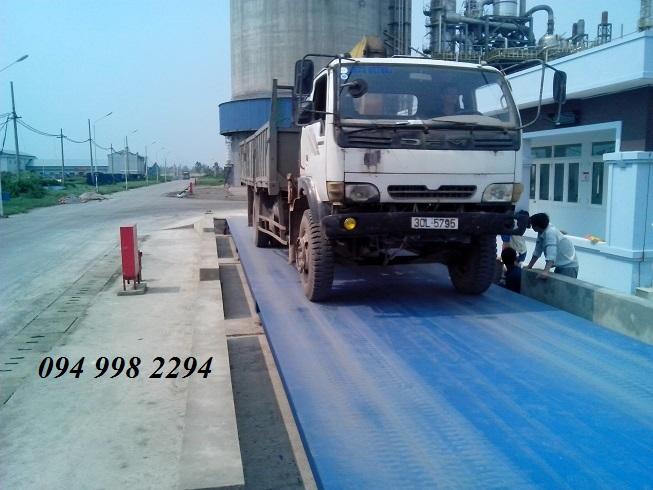 Lắp đặt cân ô tô xe tải 60 tấn