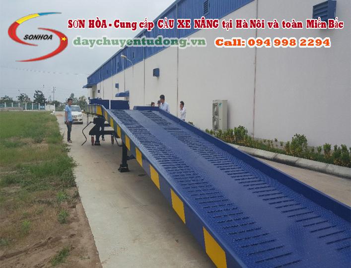 Lắp đặt Cầu dẫn xe nâng 2 khúc Ở tại Hải Dương