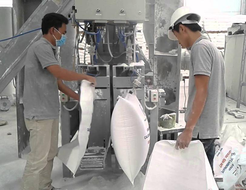 Cân đóng bao BỘT ĐÁ từ 25kg đến 1000kg