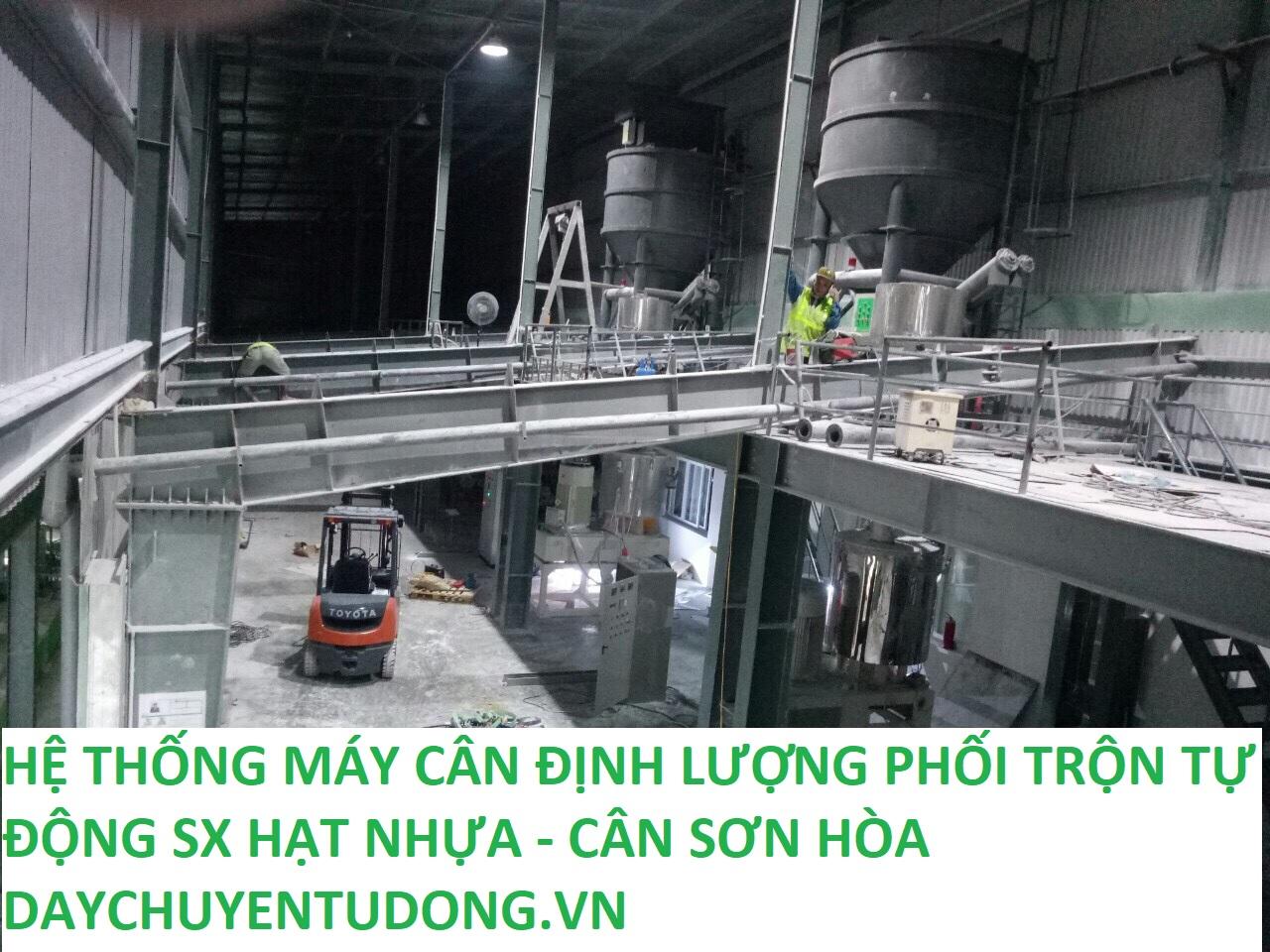 Máy Cân Định Lượng Phối Trộn 7 Thành Phần sản xuất Hạt Nhựa