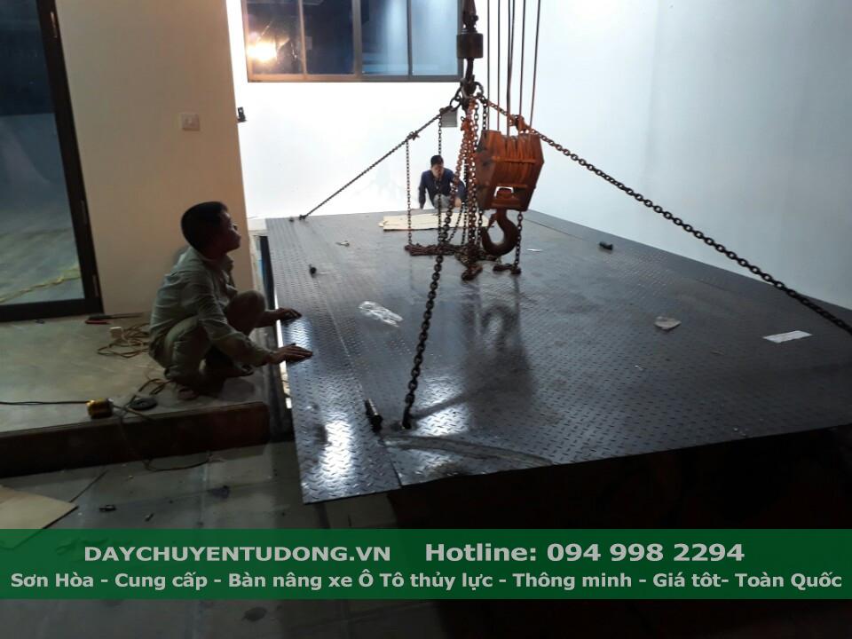Chỉnh sửa vị trí lắp đặt bàn nâng ô tô thủy lực cho phù hợp