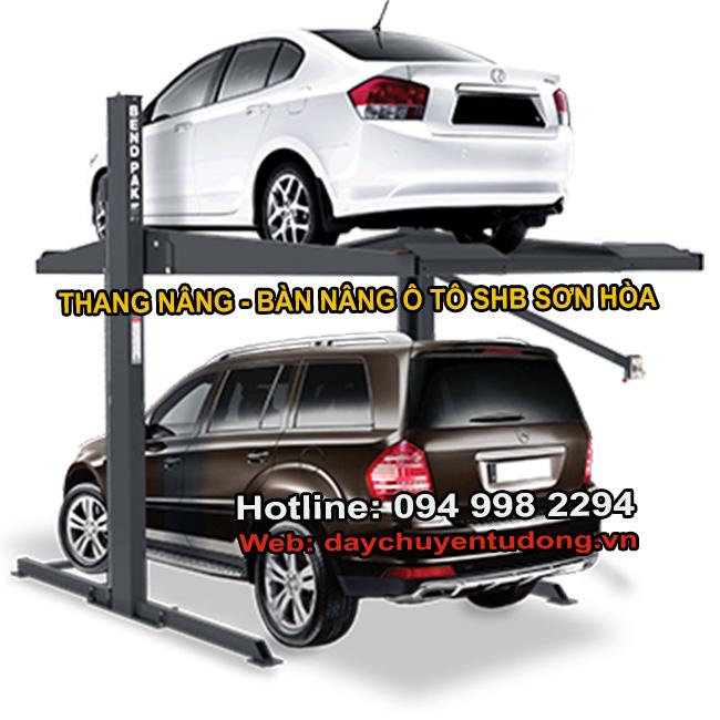 thang nâng ô tô xích tải động