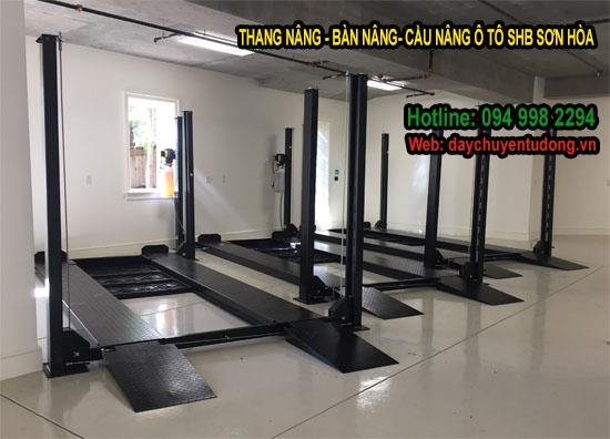 cầu nâng ô tô - thang nâng ô tô shb
