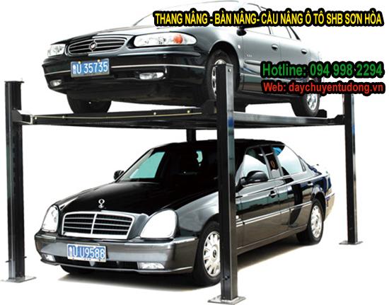 thang nâng ô tô xích tải động 4 tấn
