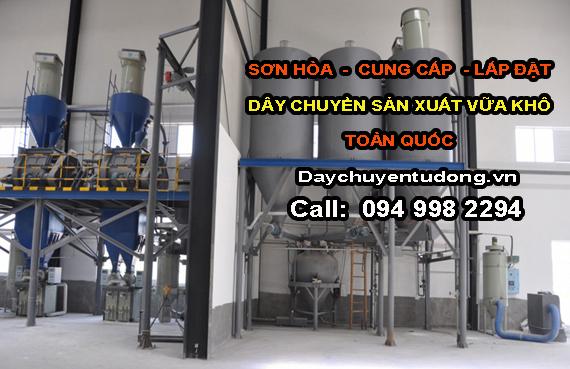dây chuyền sản xuất vữa khô