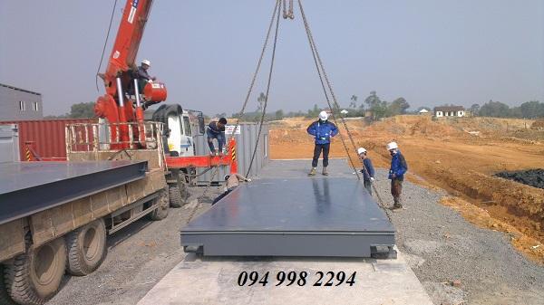 Lắp đặt trạm cân ô tô 120 tấn