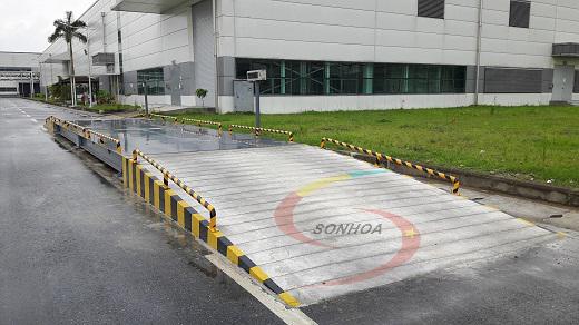 Lắp đặt hoàn thiện dự án cân ô tô xe tải 60 tấn