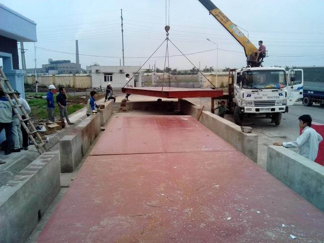bàn cân oto 60 tấn nhập khẩu Hà Lan