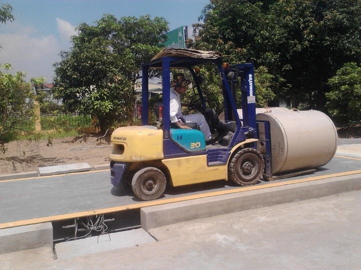 Cấu hình cân ô tô 120 tấn cao cấp