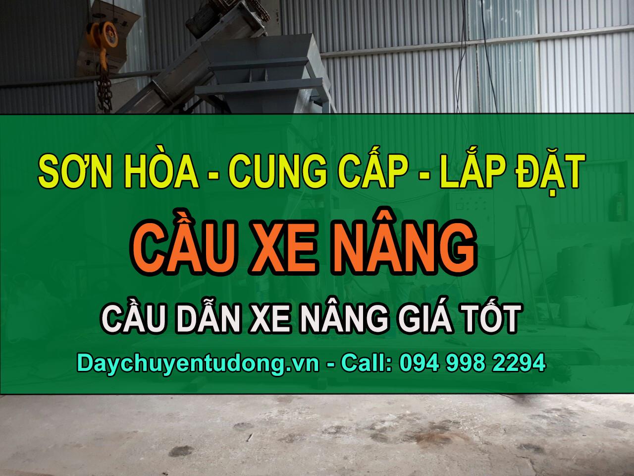 Sơn Hòa cung cấp lắp đặt cầu xe nâng 8 tấn toàn quốc