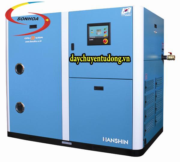 máy nén khí trục vít có dầu GRH hanshin