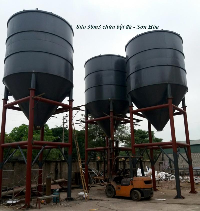 Cung cấp silo 30m3 cho dây chuyền nghiền bột đá tại Yên Bái