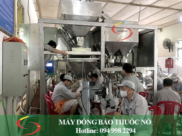 Lắp đặt máy đóng bao thuốc nổ Ninh Bình