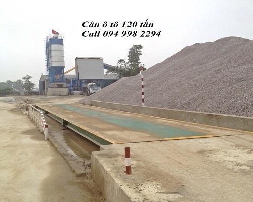 Sơn Hòa lắp đặt cân ô tô 120 tấn tại Thanh Hóa