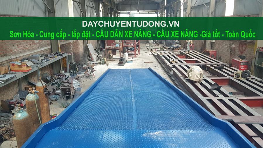 Lắp đặt Cầu xe nâng - Cầu lên Container ở Hưng Yên