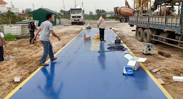 Lắp đặt trạm cân xe tải 120 tấn tại Hải Phòng
