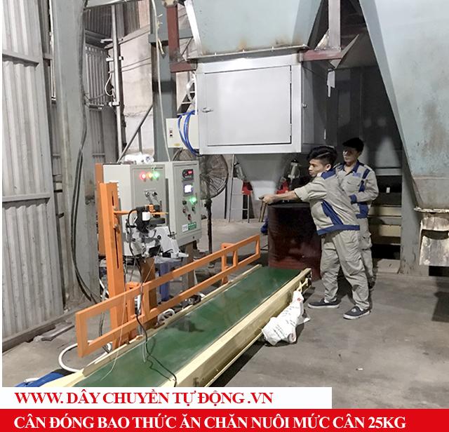 Lắp đặt cân đóng bao năng suất 200 bao/h tại Hà Nội