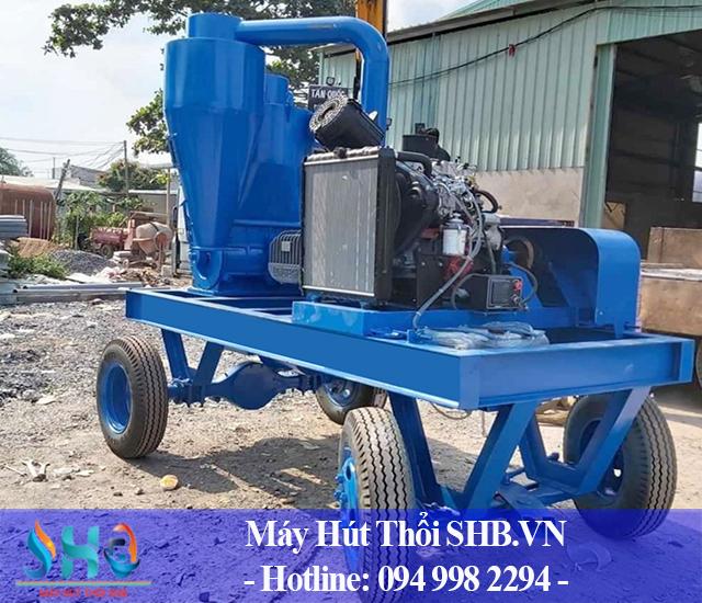 Chế tạo, lắp đặt máy hút lúa tại Thái Bình