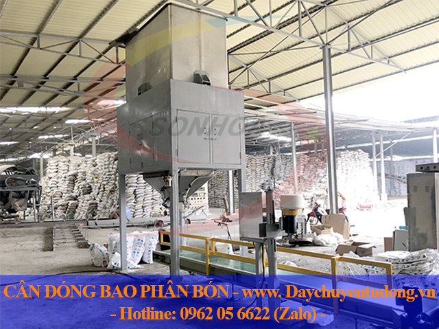 Cân đóng bao phân bón năng suất 500-600 bao/h tại Bắc Giang